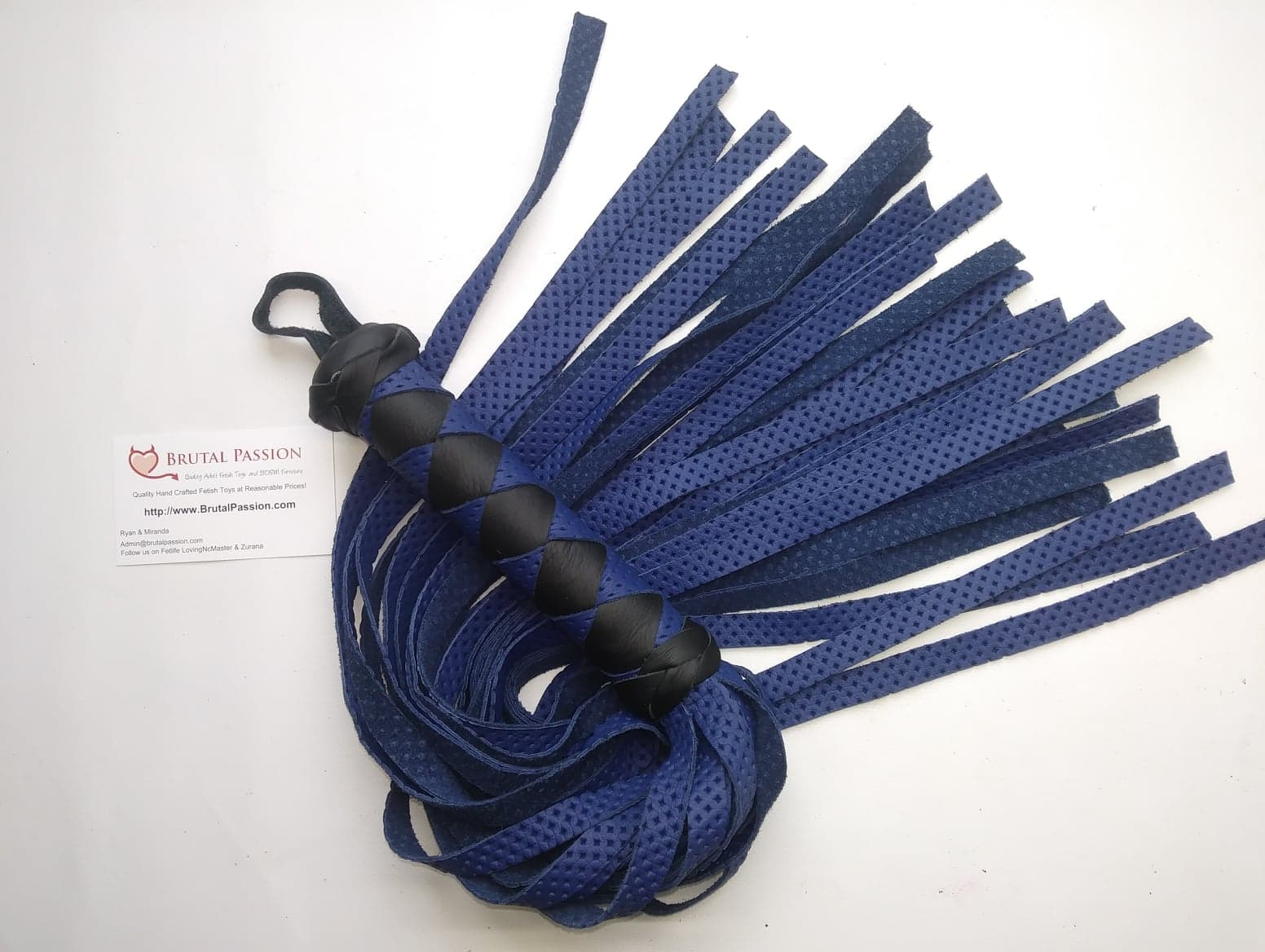 Rich Blue perforated Standard Flogger