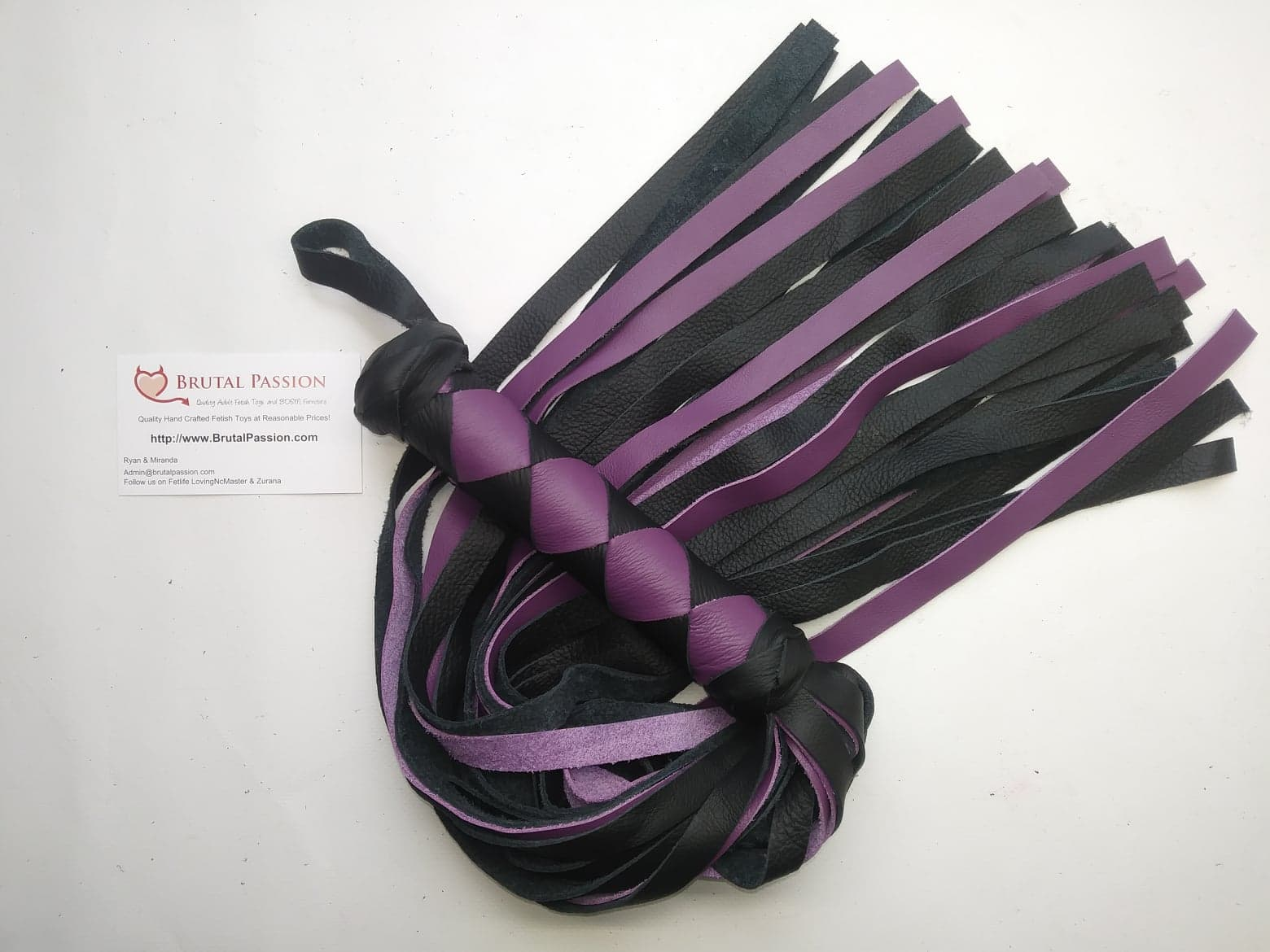 Bright Purple Standard Leather Flogger