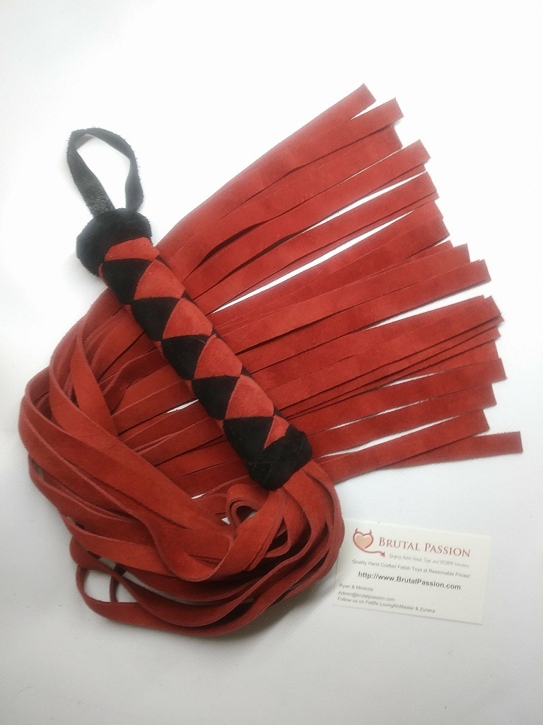 Red & Black suede Flogger