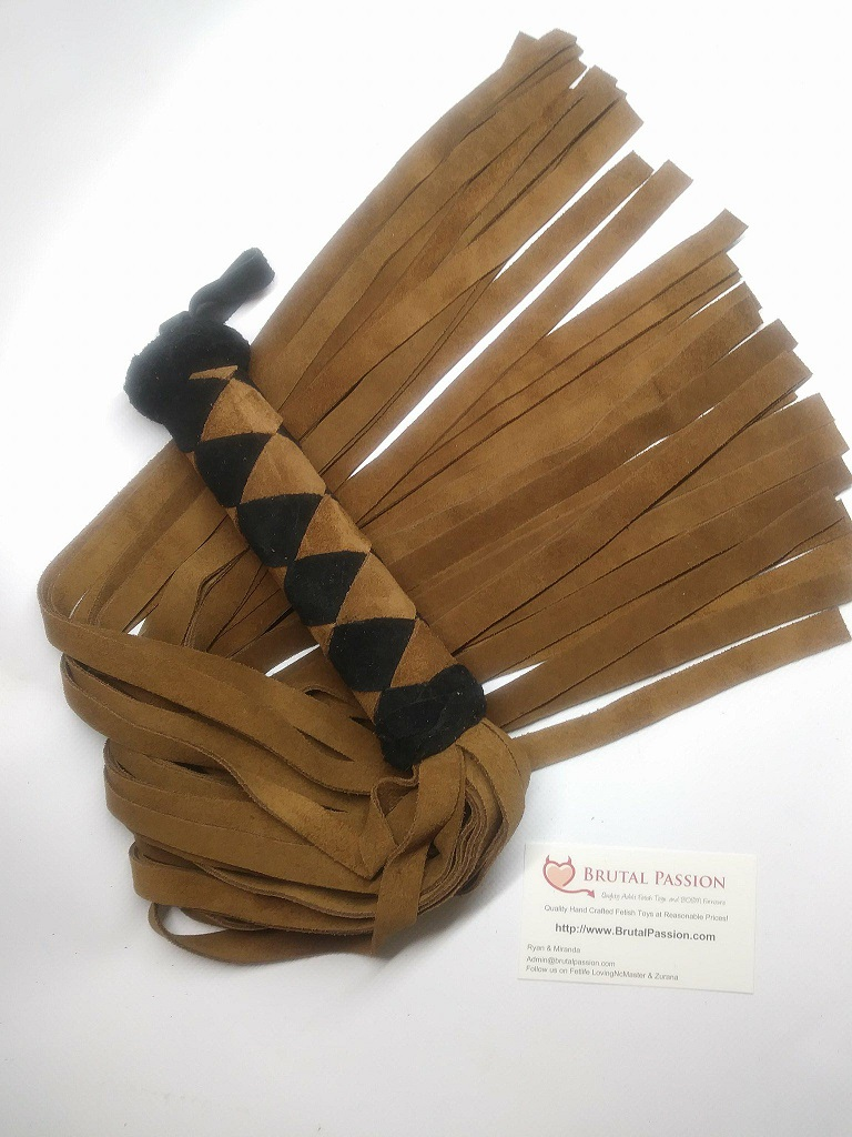 HEAVY Black and Brown suede Flogger
