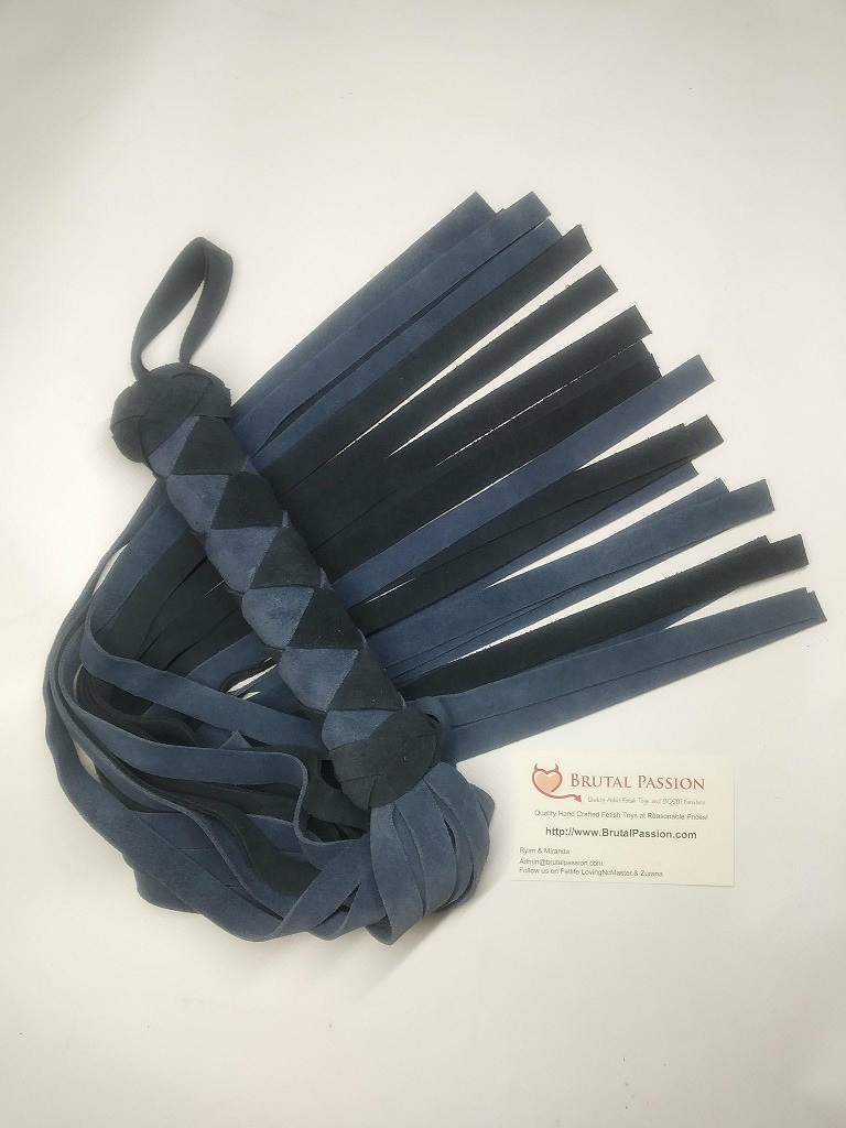 Two Tone Blue suede Flogger