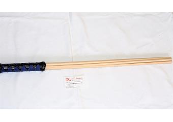 BDSM Impact Toys - Black & Cobalt Blue 29 inch Birch Beater Thumbnail