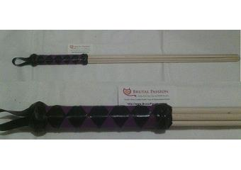 BDSM Impact Toys - Black & Purple 29 inch Birch Beater Thumbnail