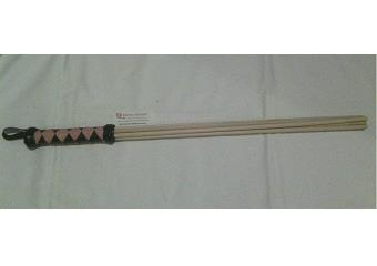 BDSM Impact Toys - Black & Pink 24 inch Birch Beater Thumbnail