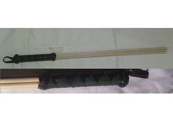 BDSM Impact Toys - Black & Hunter Green 24 inch Birch Beater Thumbnail